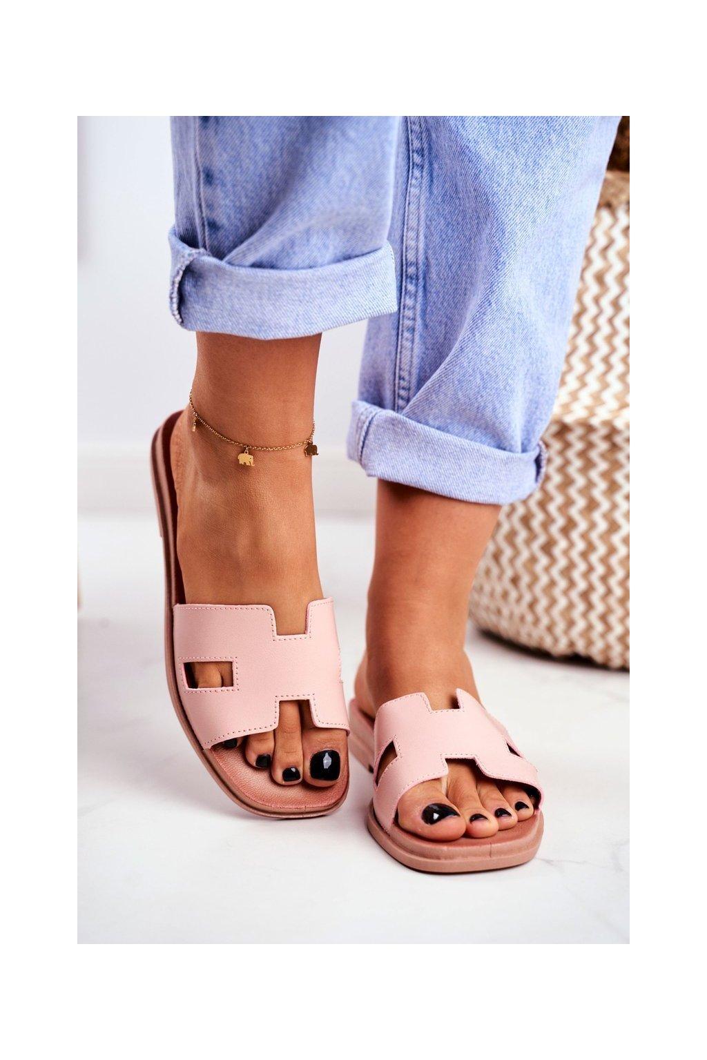 Dámske šľapky farba ružová kód obuvi G-583 PINK