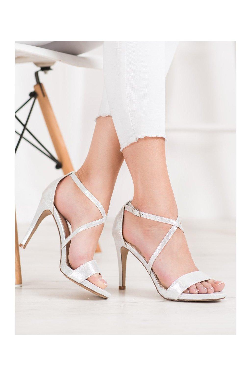 Sivé sandále Vinceza NJSK YQE20-17047S