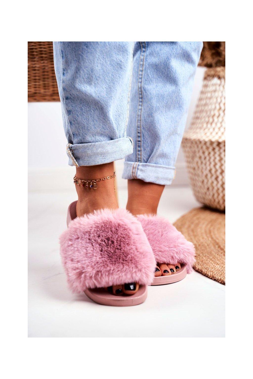 Dámske šľapky farba ružová kód obuvi S-1 P/PINK