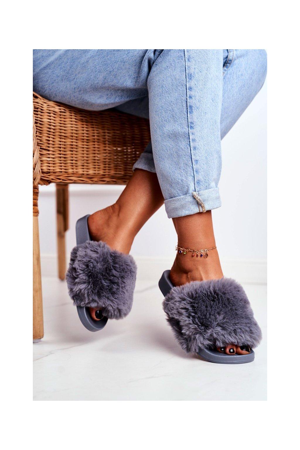 Dámske šľapky farba sivá kód obuvi S-1 GREY