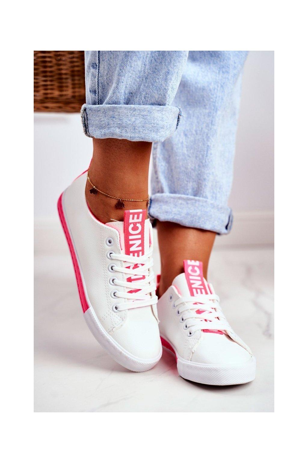 Dámske tenisky farba ružová kód obuvi LA70 FUCHSIA