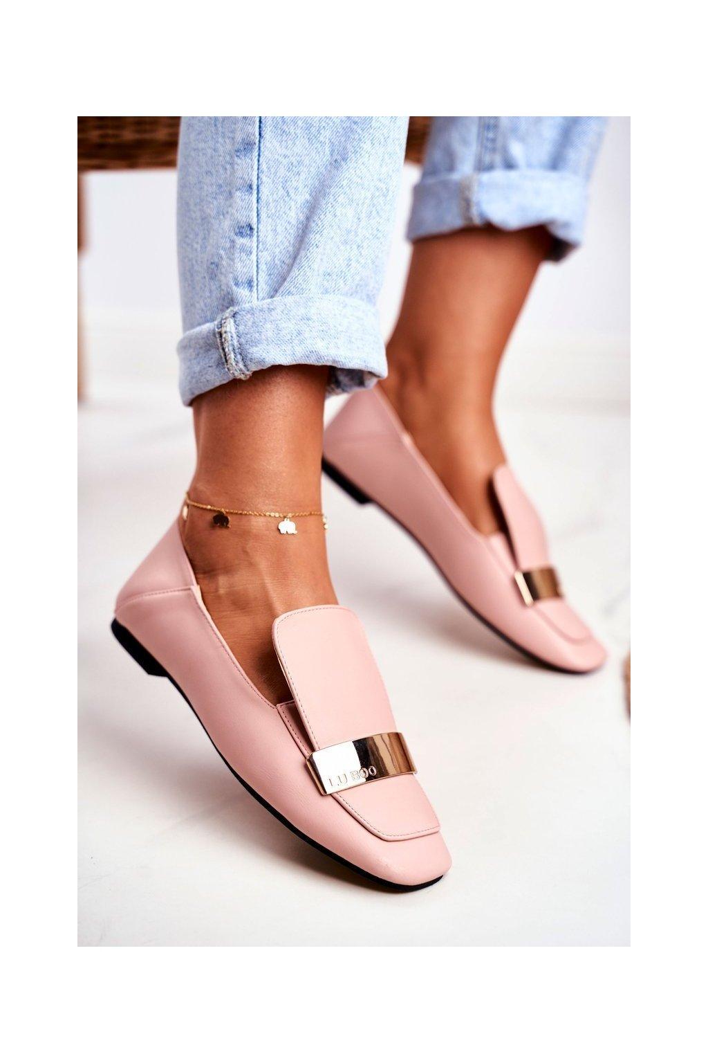 Dámske mokasíny farba ružová kód obuvi 588C-1 PU PINK
