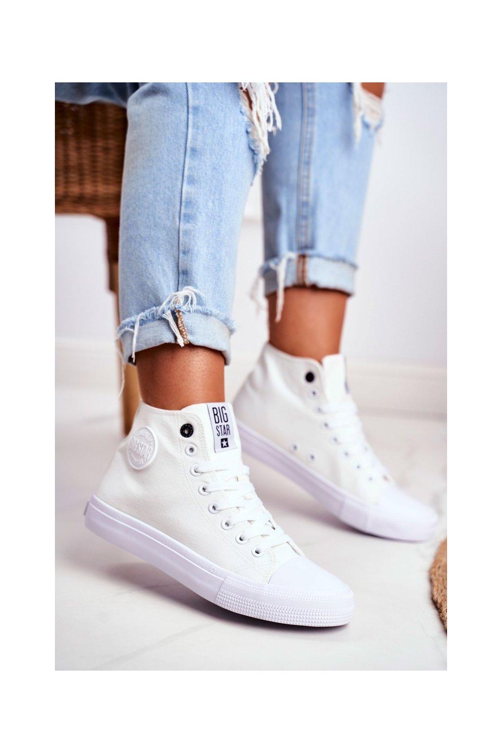 Dámske tenisky farba biela kód obuvi FF274A171 WHITE