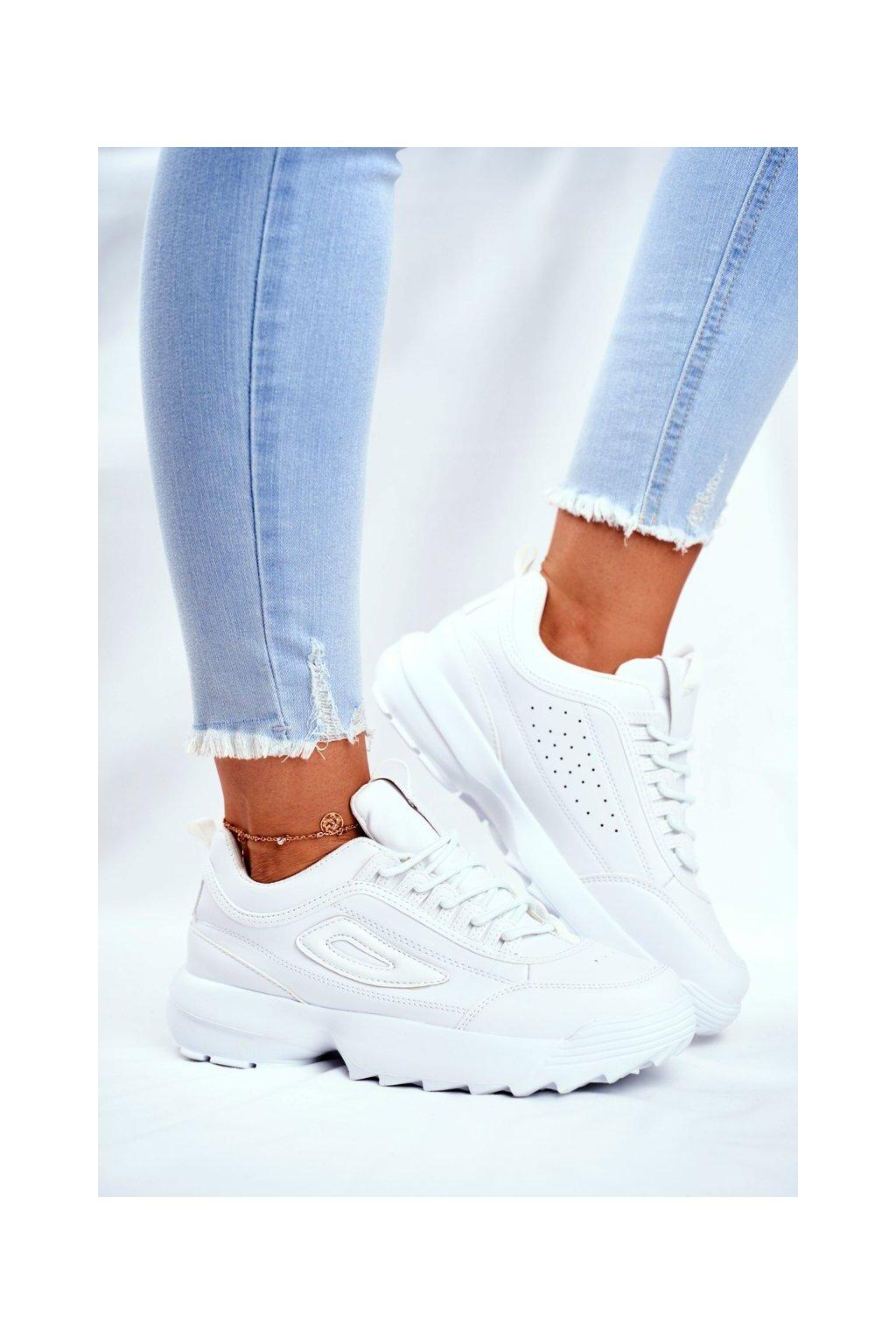 Biela obuv kód topánok NJSK 3069 WHITE