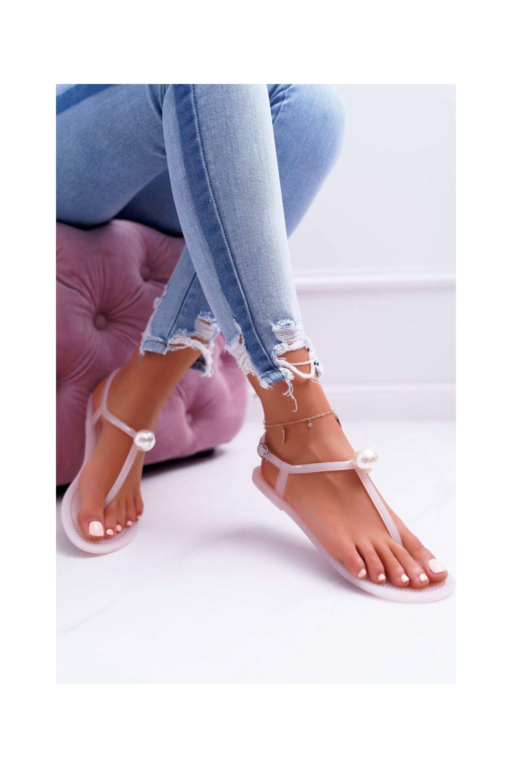Dámske sandále Meliško s perlami ružové Contiro NJSK 96