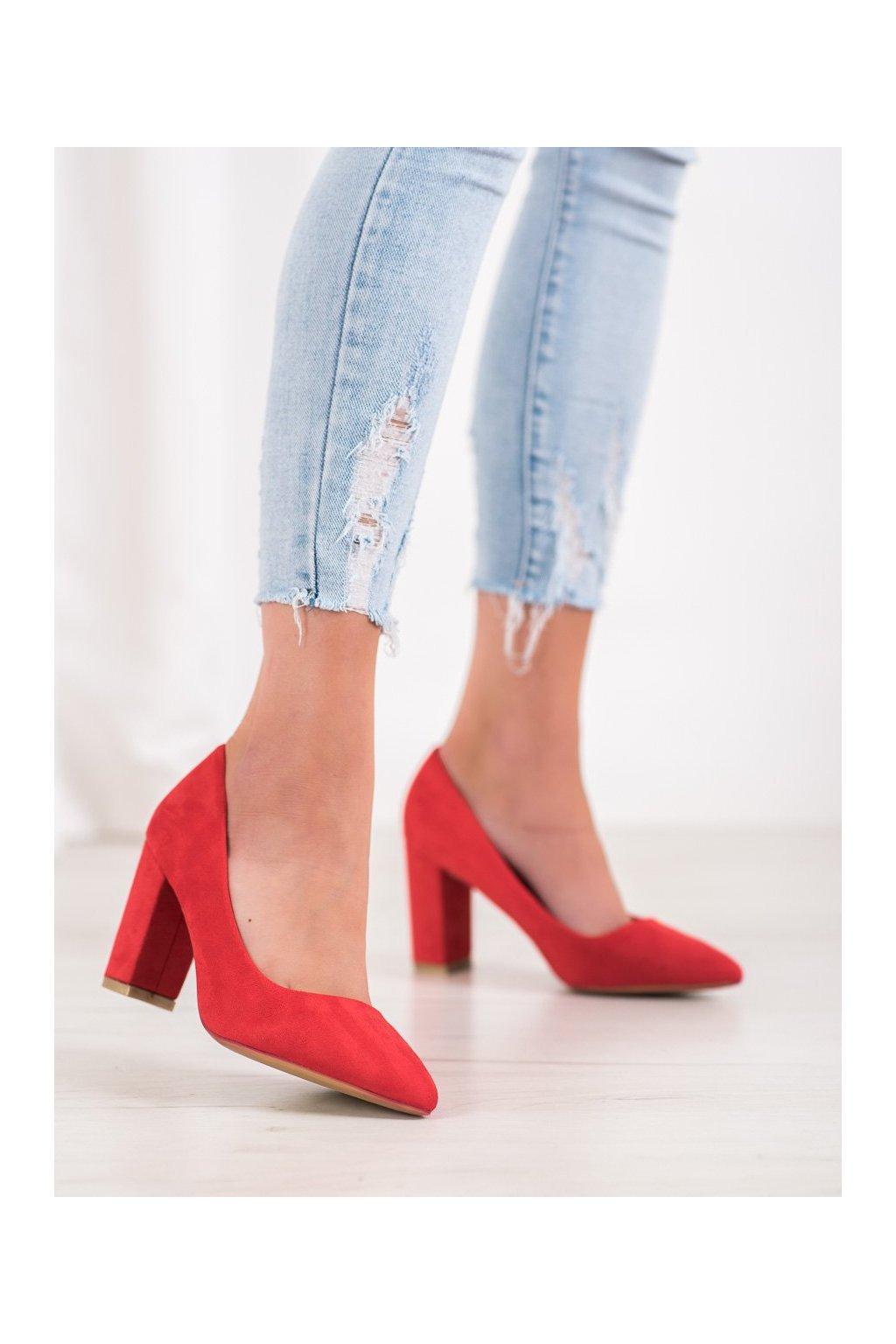 Červené dámske lodičky Shelovet kod S12-R