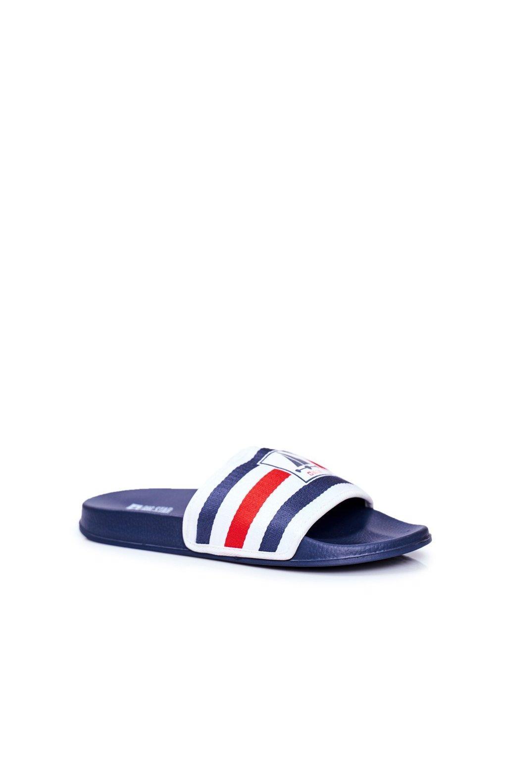 Pánske šľapky farba modrá kód obuvi DD174691 NAVY