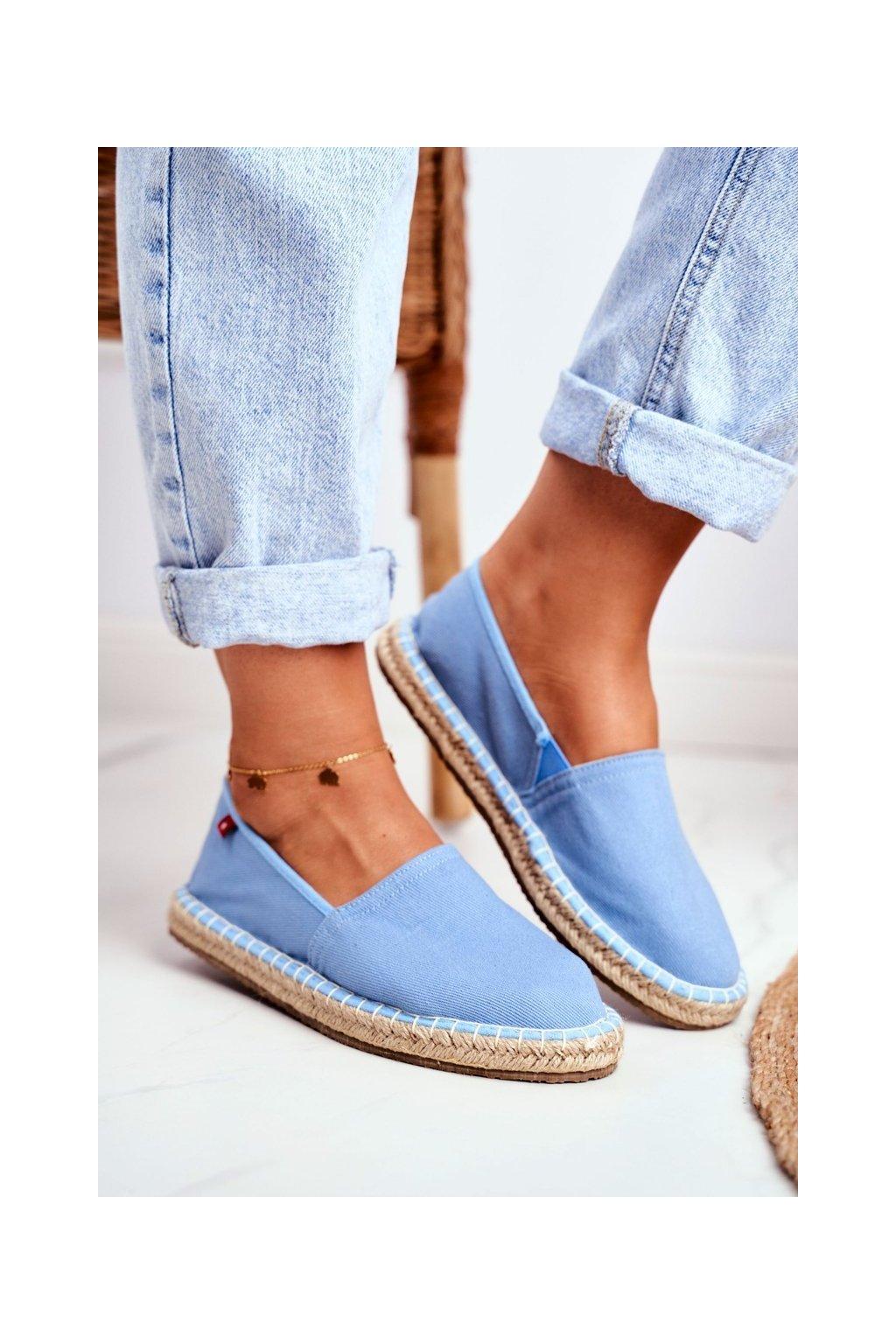 Dámske espadrilky farba modrá kód obuvi DD274A153 LT.BLUE
