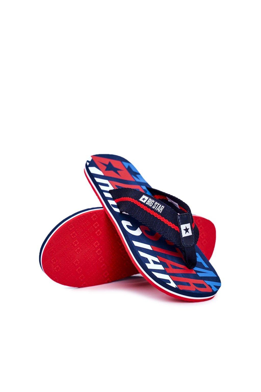 Pánske žabky farba modrá kód obuvi DD174659 NAVY