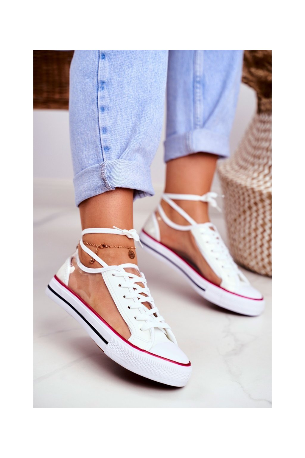 Dámske tenisky farba biela kód obuvi XL22 WHITE