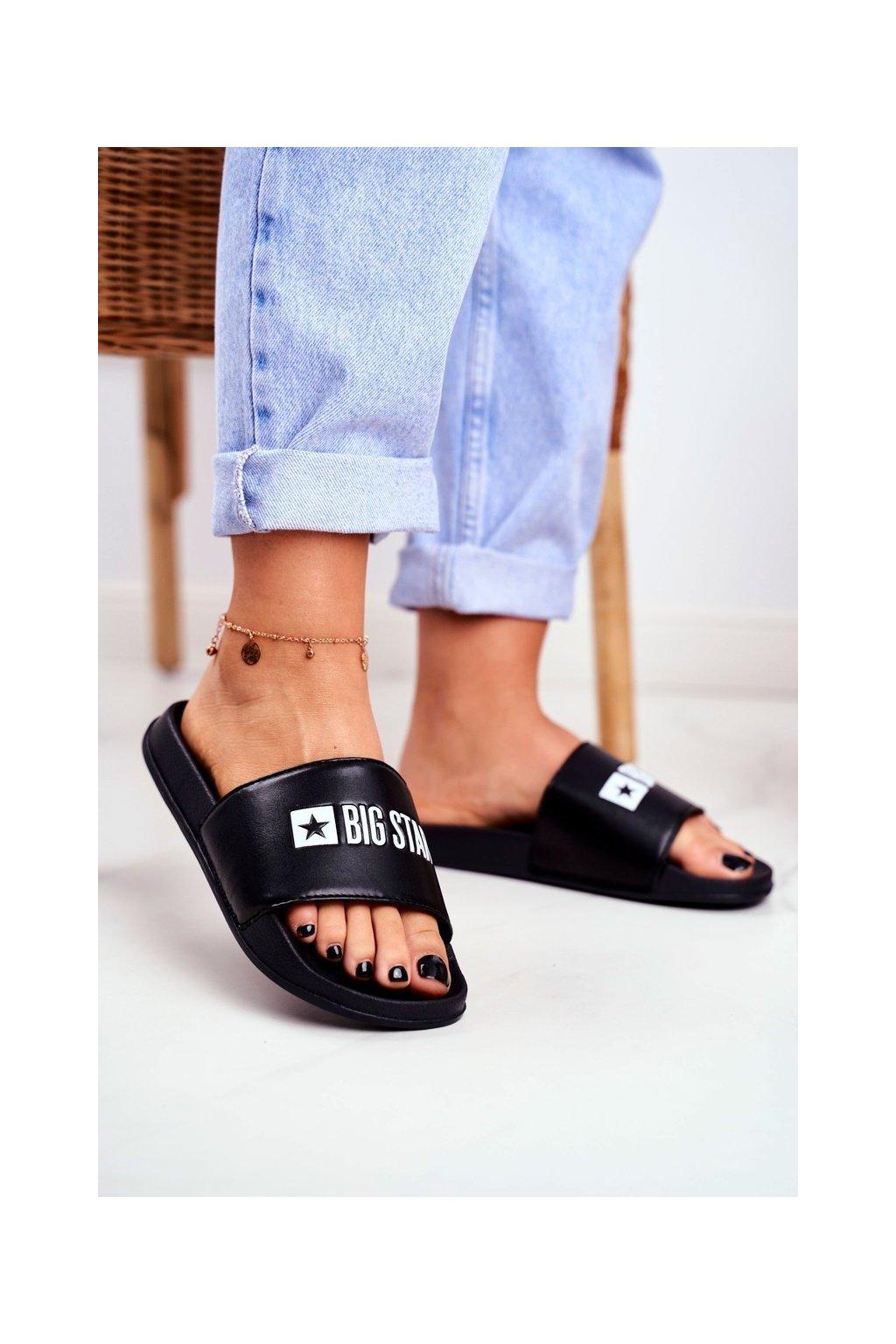 Dámske šľapky farba čierna kód obuvi GG274A040 BLK