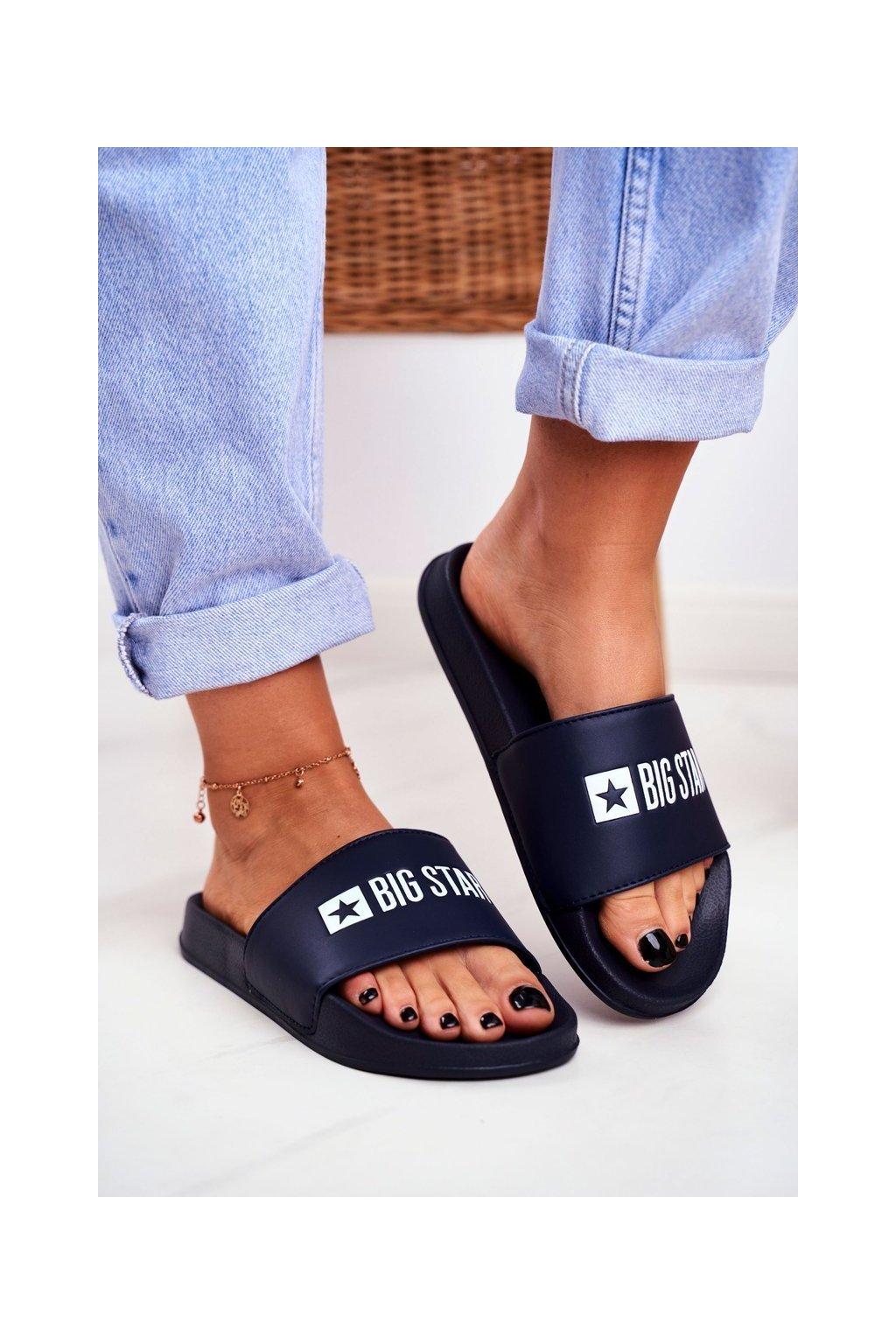 Dámske šľapky farba modrá kód obuvi GG274A043 NAVY