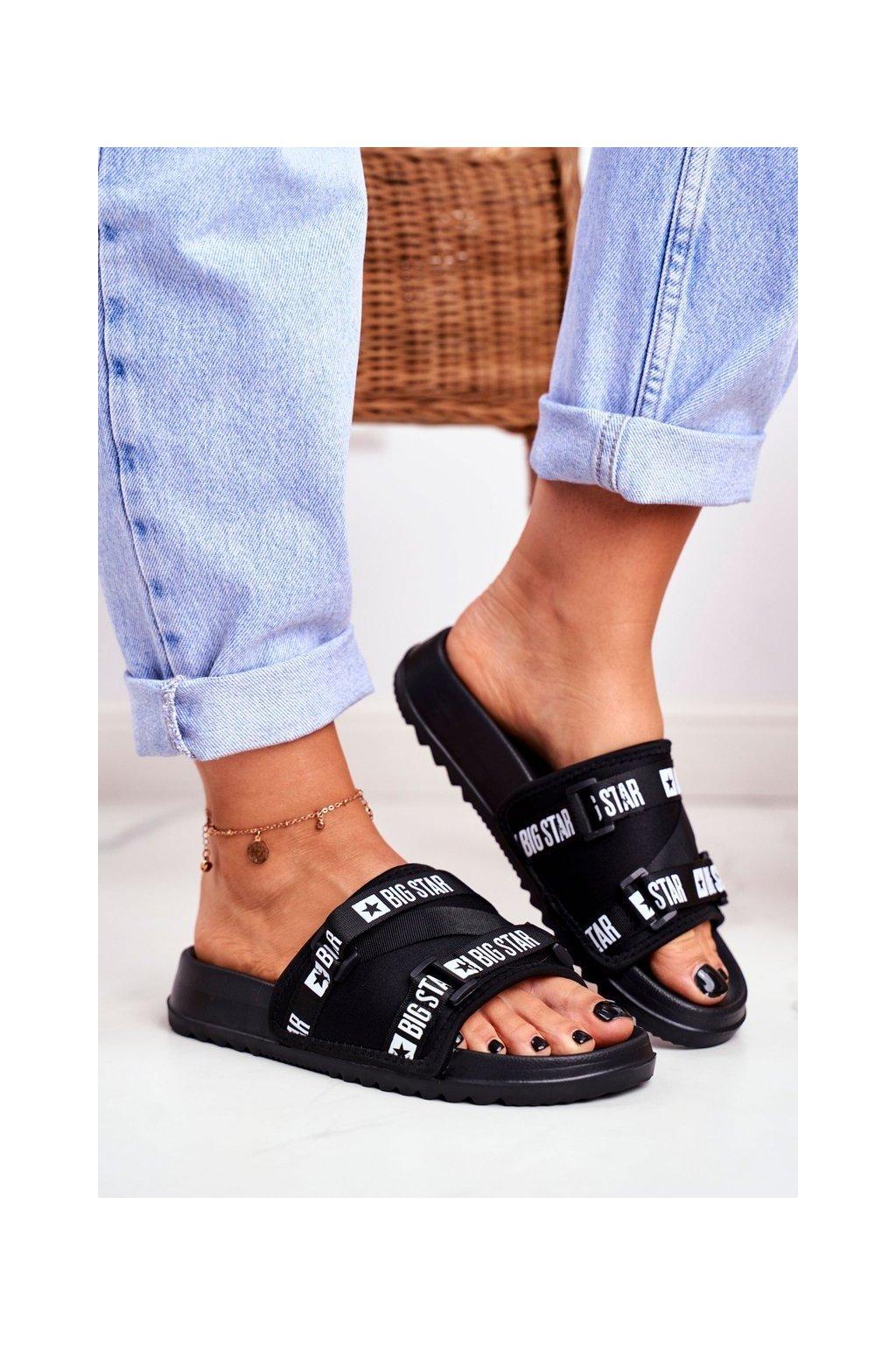 Dámske šľapky farba čierna kód obuvi GG274A018 BLK