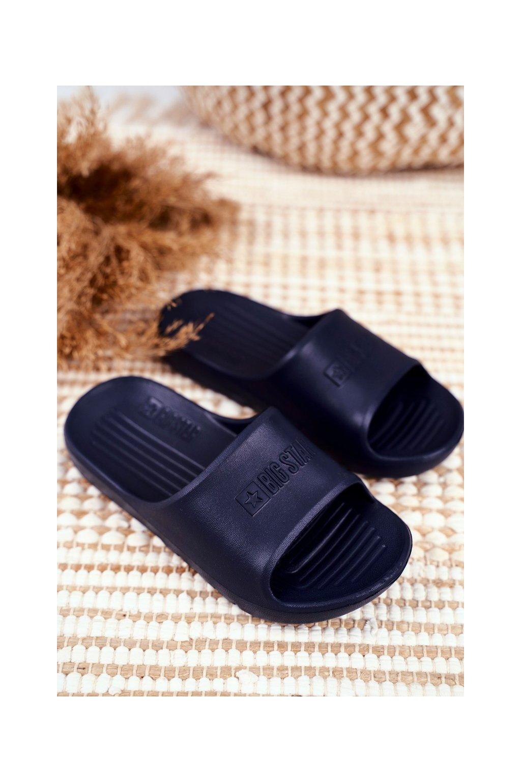 Detské šľapky farba modrá kód obuvi GG374810 NAVY