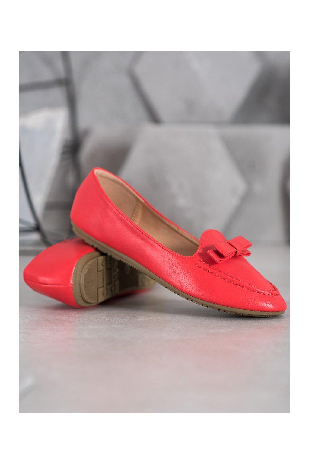 Červené dámske balerínky Shelovet NJSK A8637R