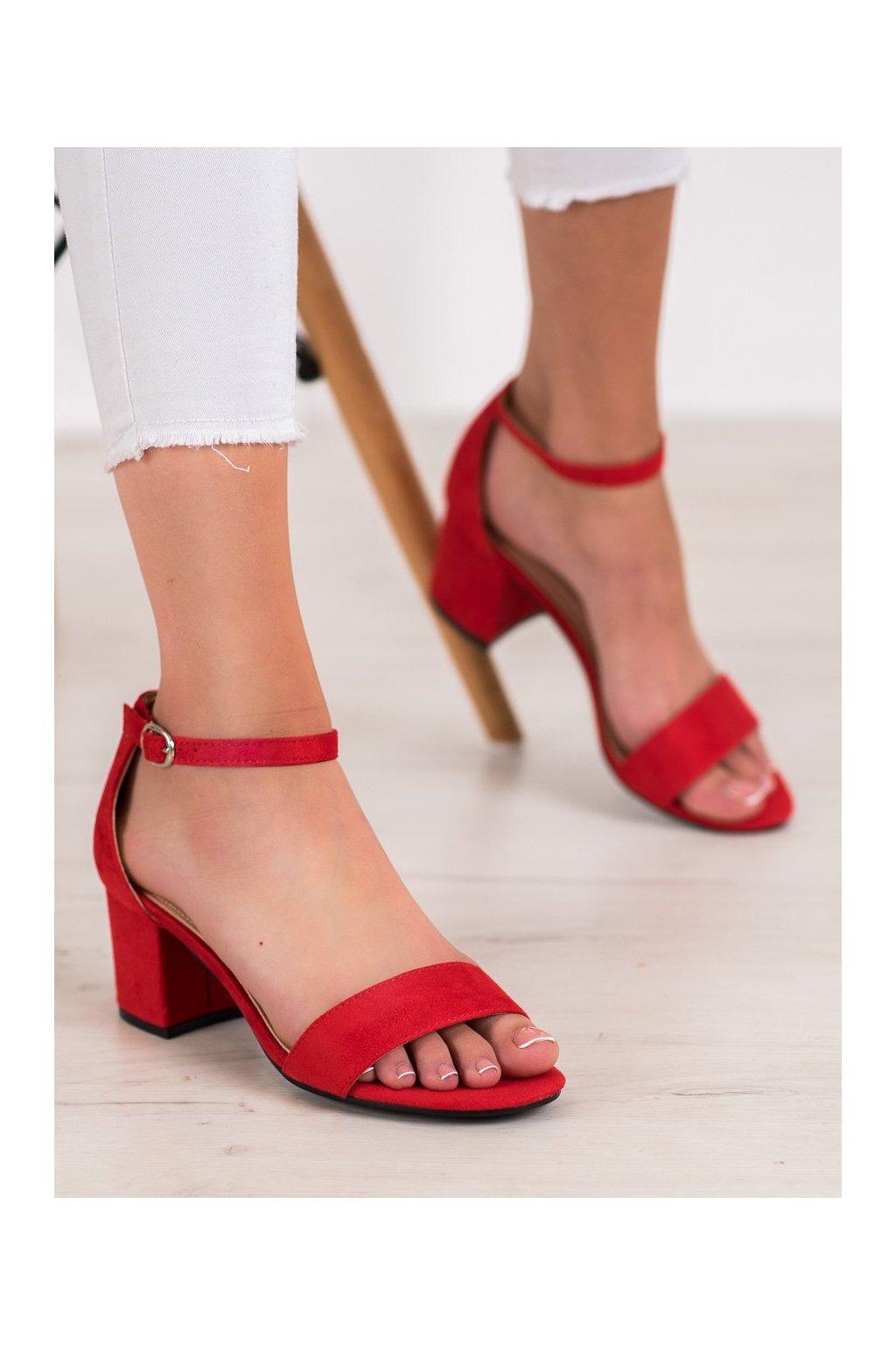 Červené sandále Diamantique NJSK 1170-13R