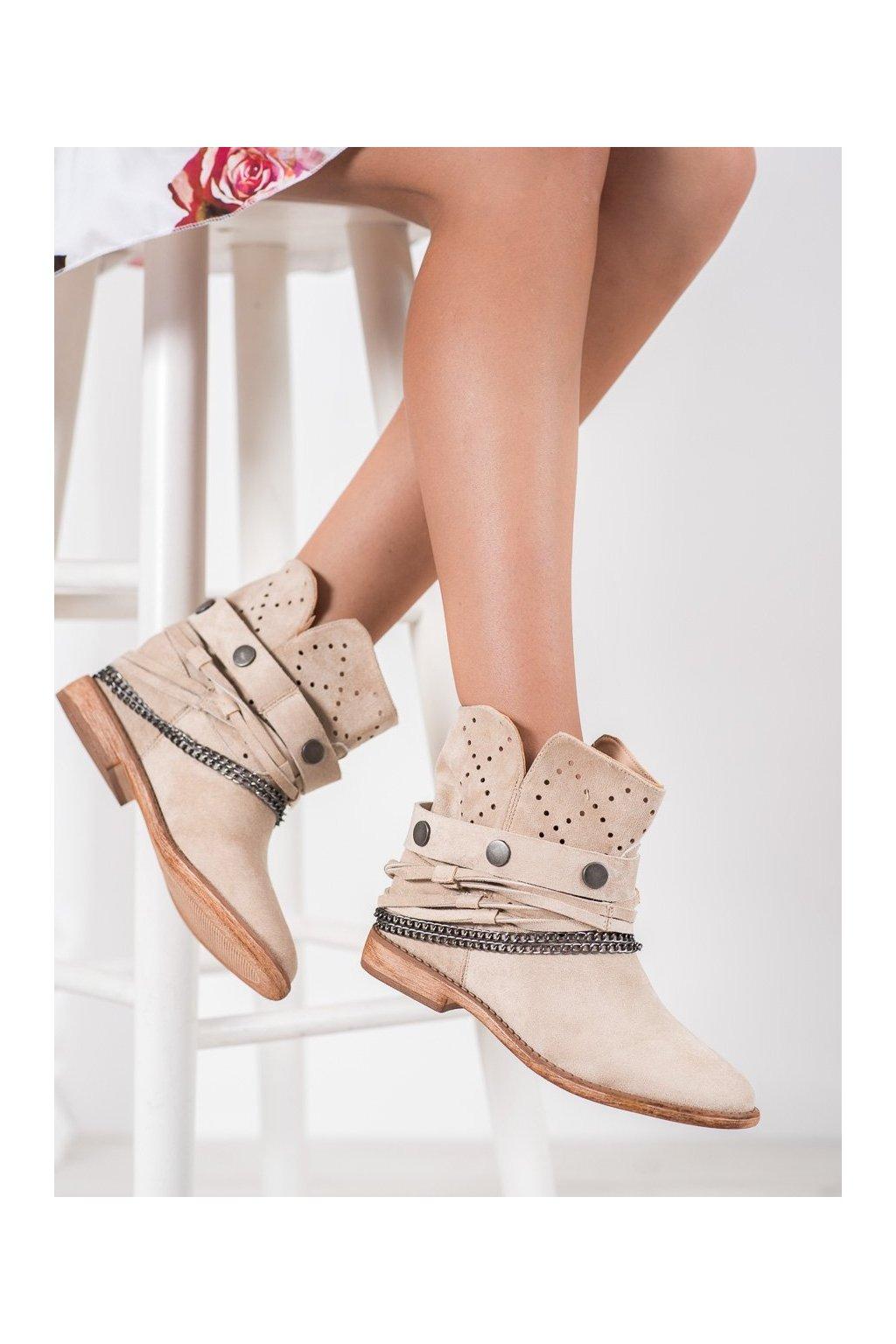 Hnedé dámske topánky Bella paris kod A3731L.KH
