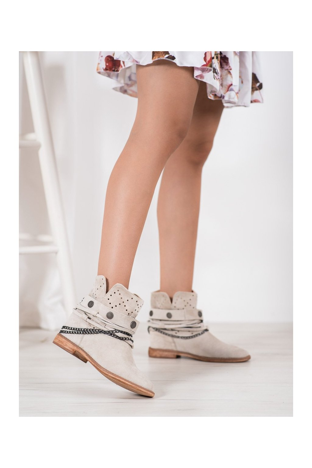 Hnedé dámske topánky Bella paris kod A3731L.BE