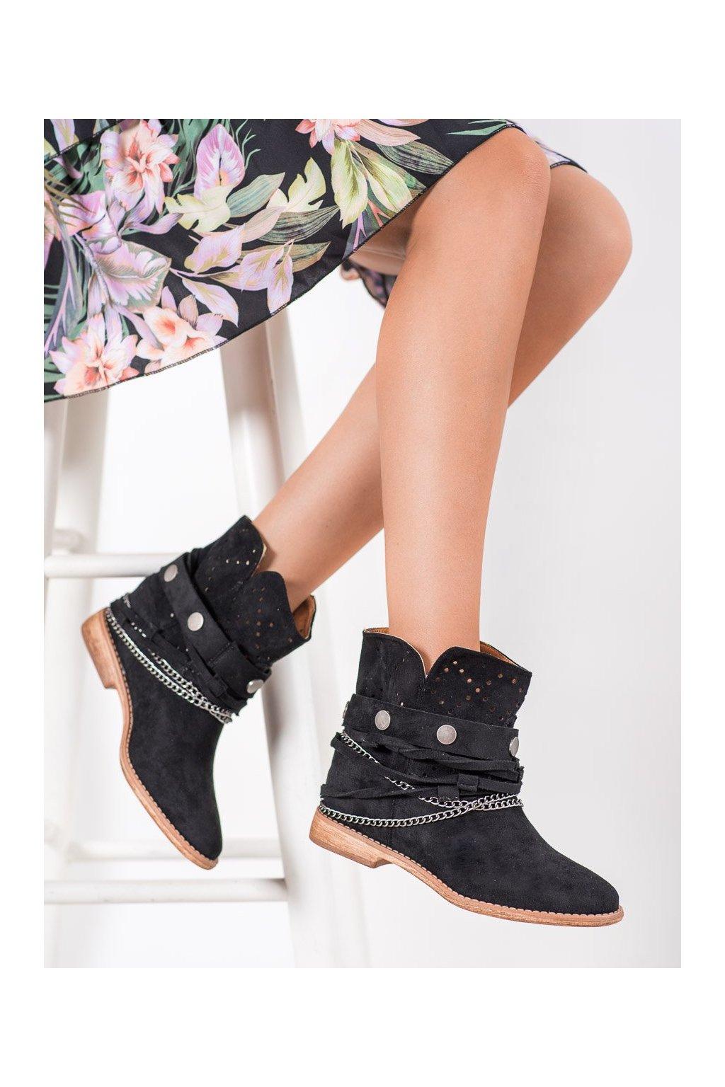 Čierne dámske topánky Bella paris kod A3731B