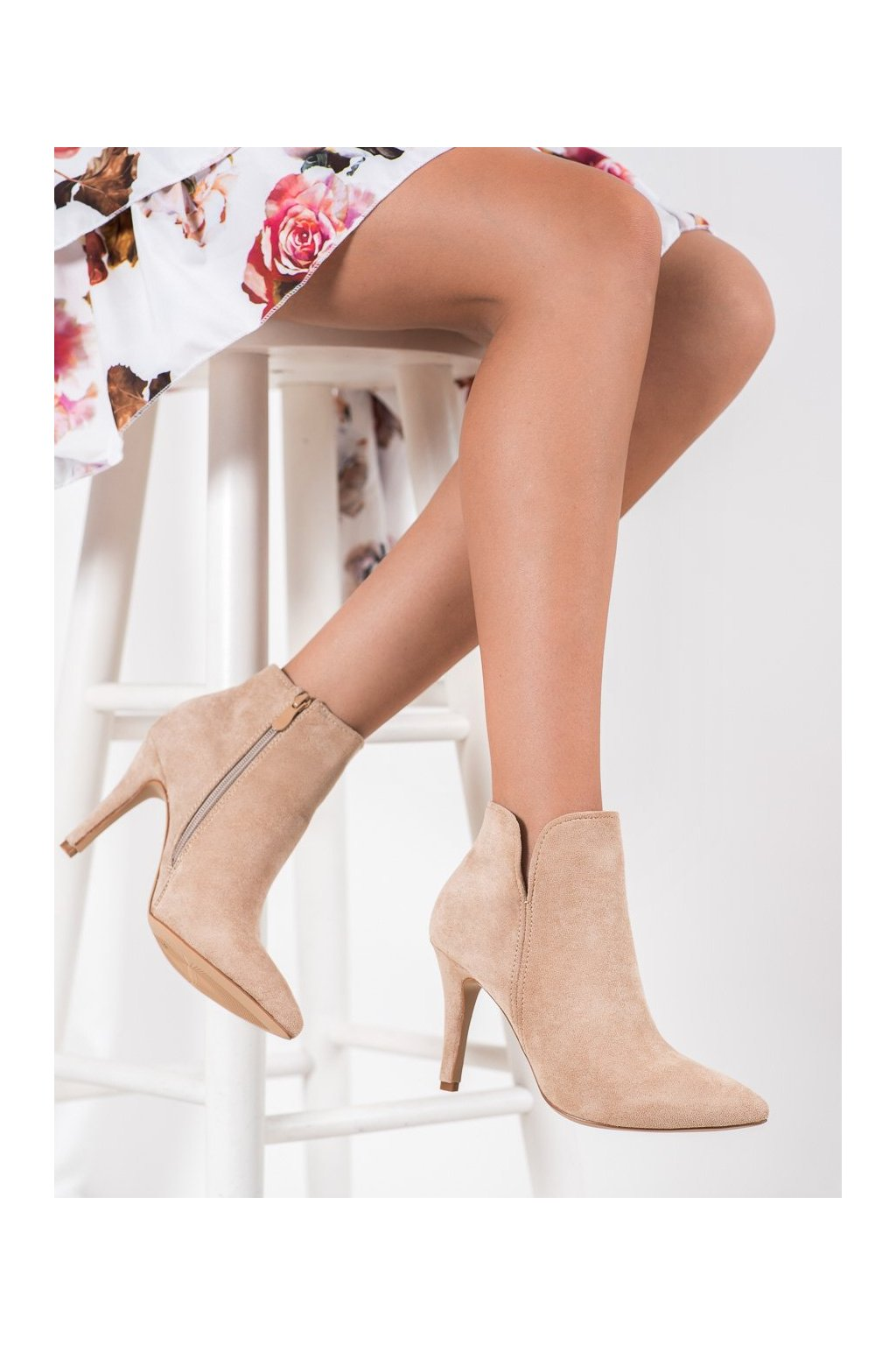 Hnedé dámske topánky Bella paris kod A8503KH
