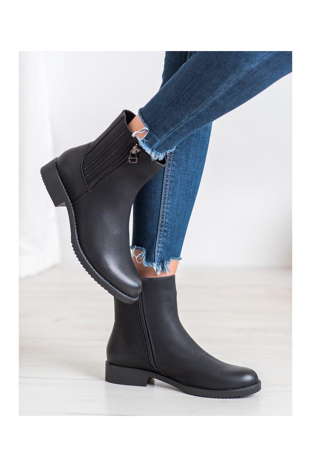 Čierne dámske topánky J. star kod A8102B
