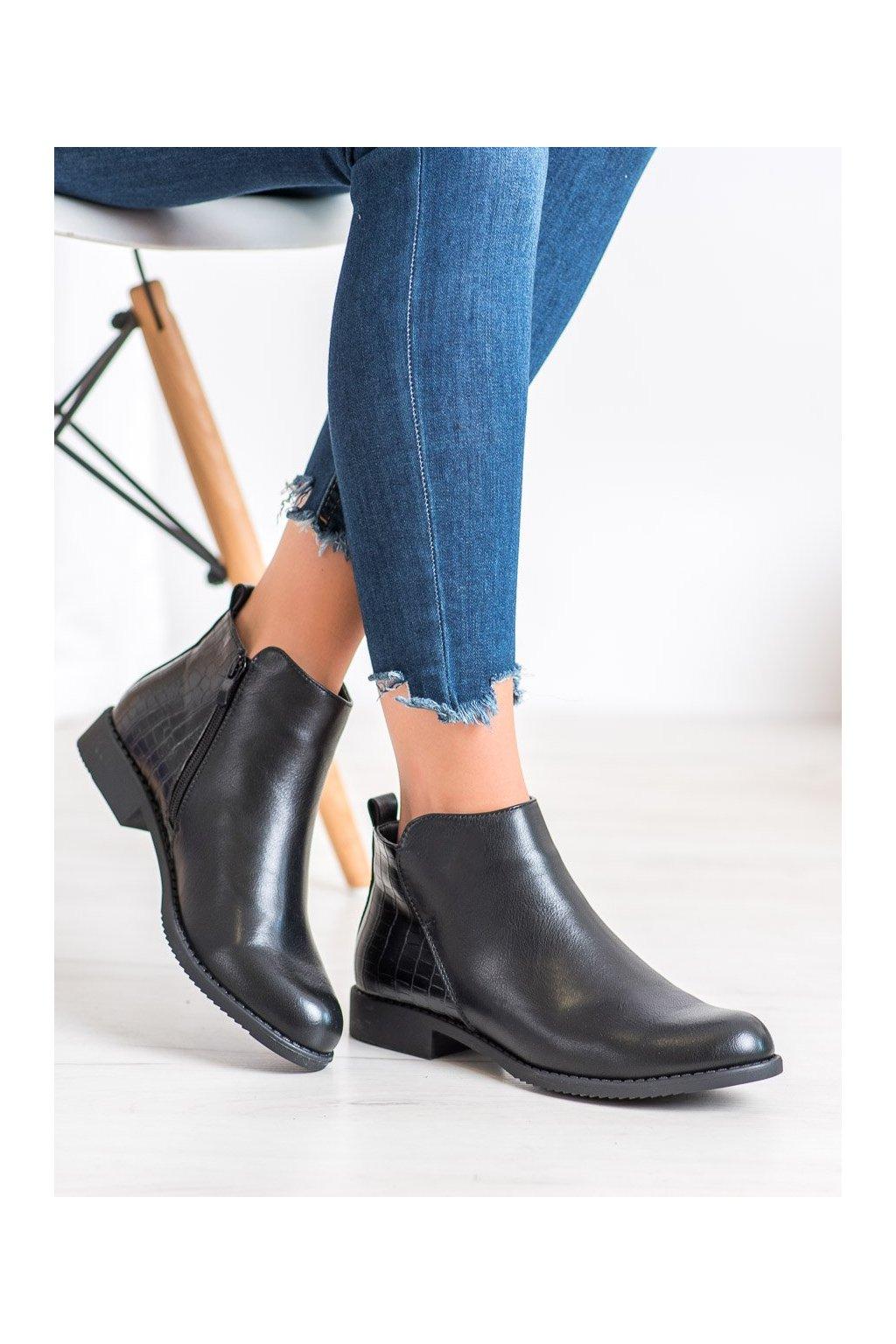 Čierne dámske topánky J. star kod A8045/A-B