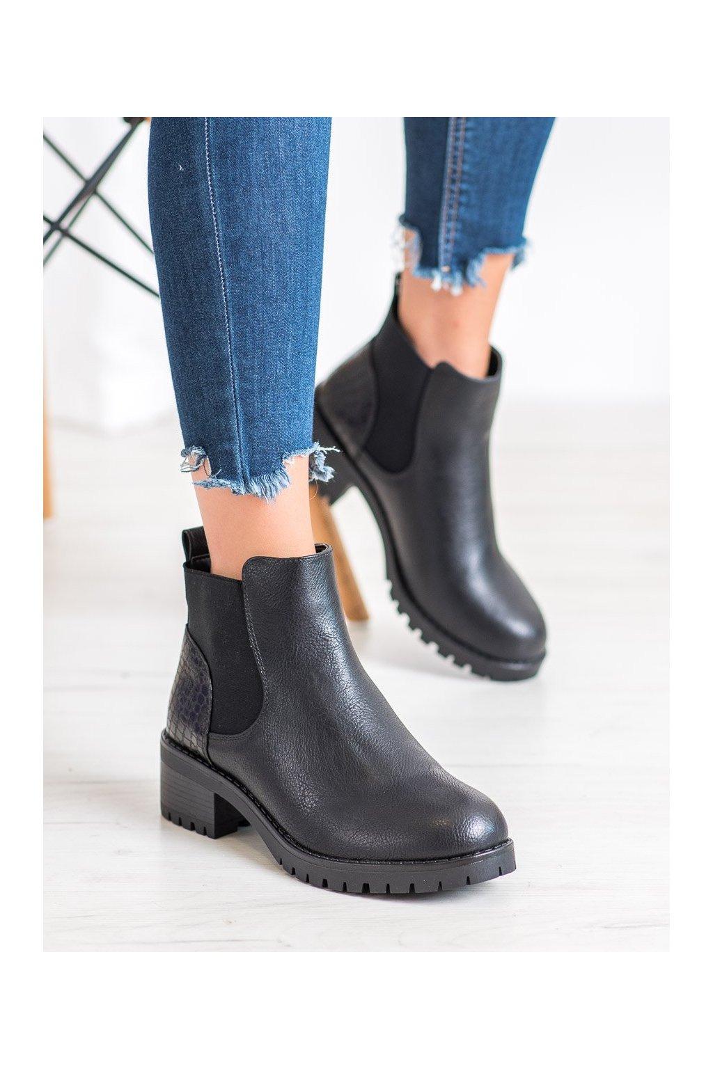 Čierne dámske topánky J. star kod V19019B