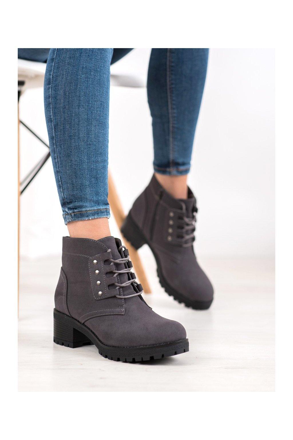 Sivé dámske topánky J. star kod V19009G