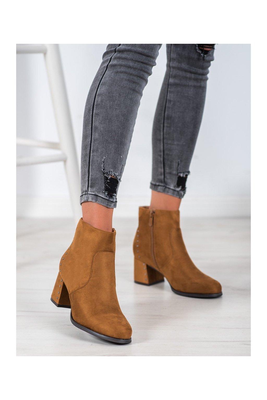 Hnedé dámske topánky Vinceza kod HX21-16174C