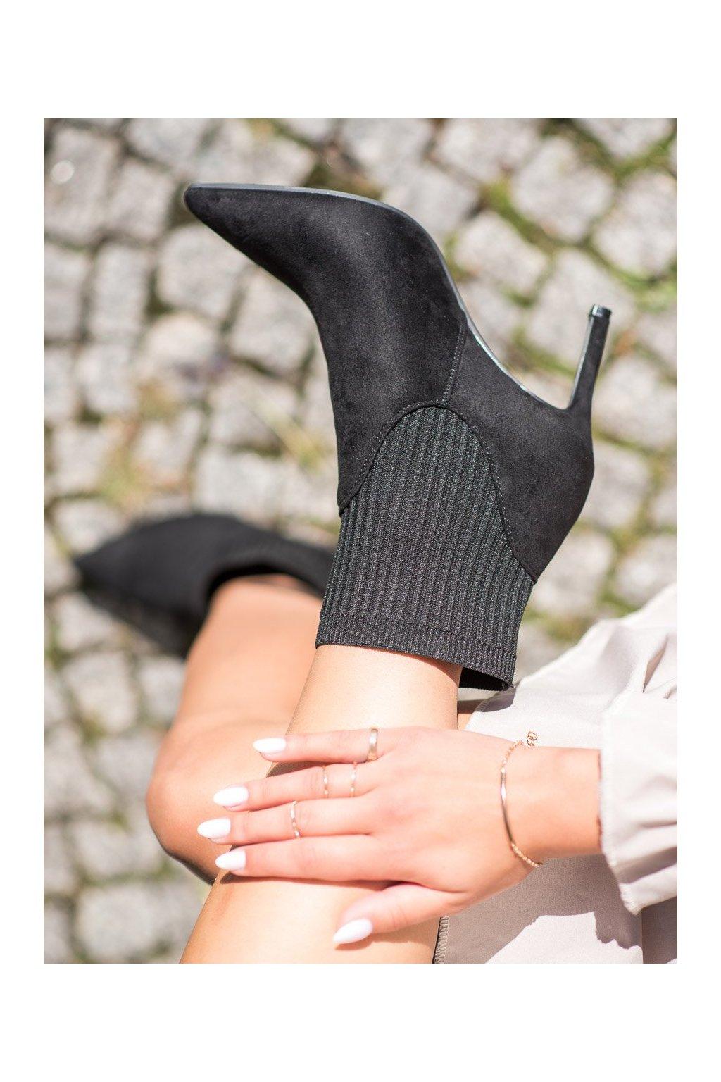 Čierne dámske topánky Vinceza kod HX21-16187B