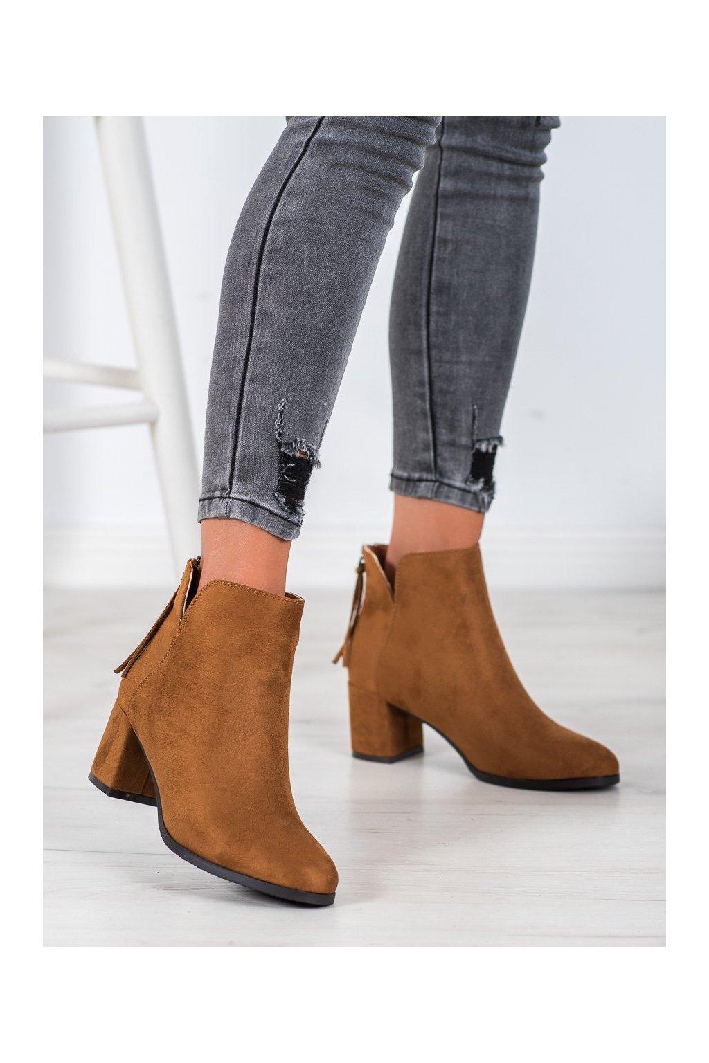 Hnedé dámske topánky Vinceza kod HX21-16092C