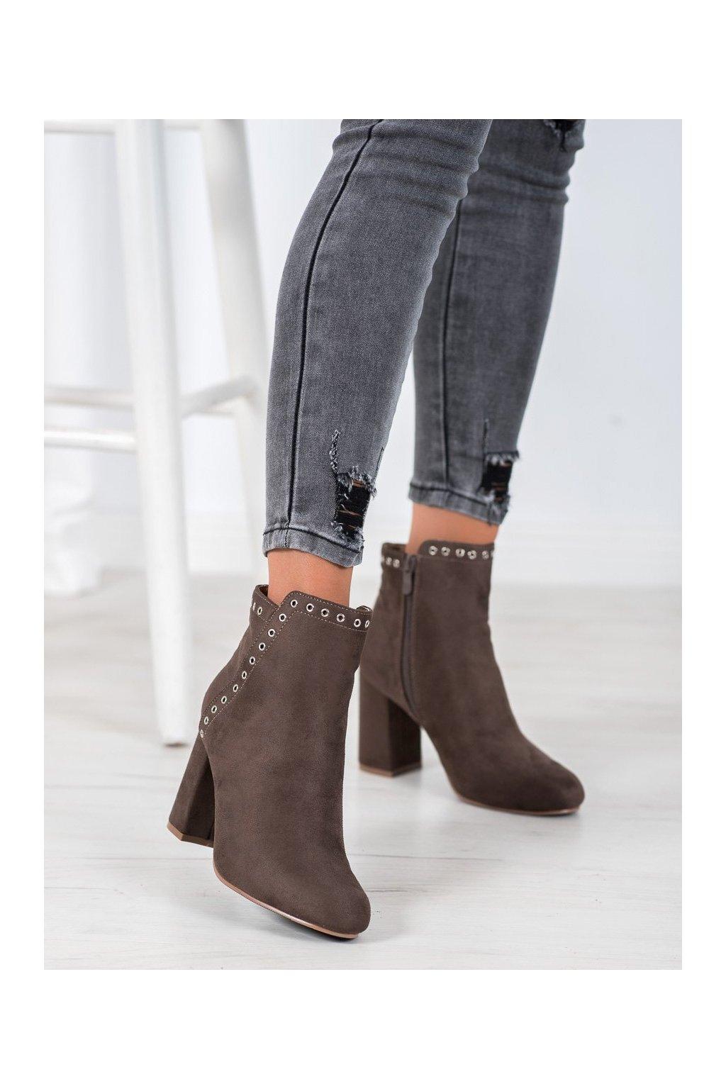 Hnedé dámske topánky Evento kod 8BT35-0576KH