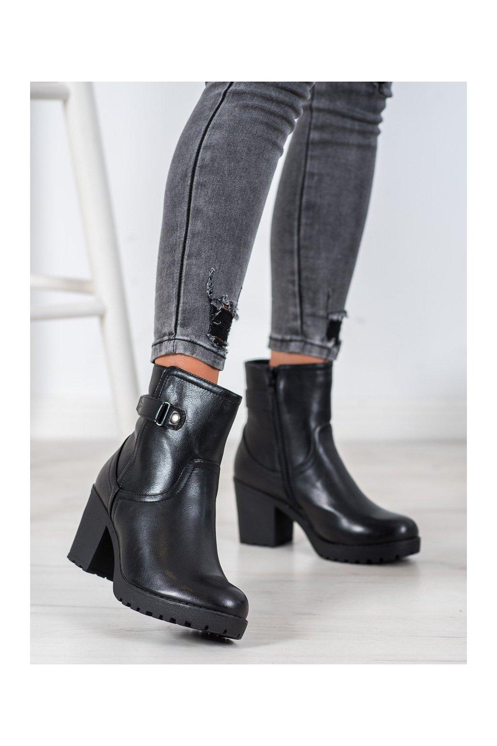 Čierne dámske topánky J. star kod A8111/A-B
