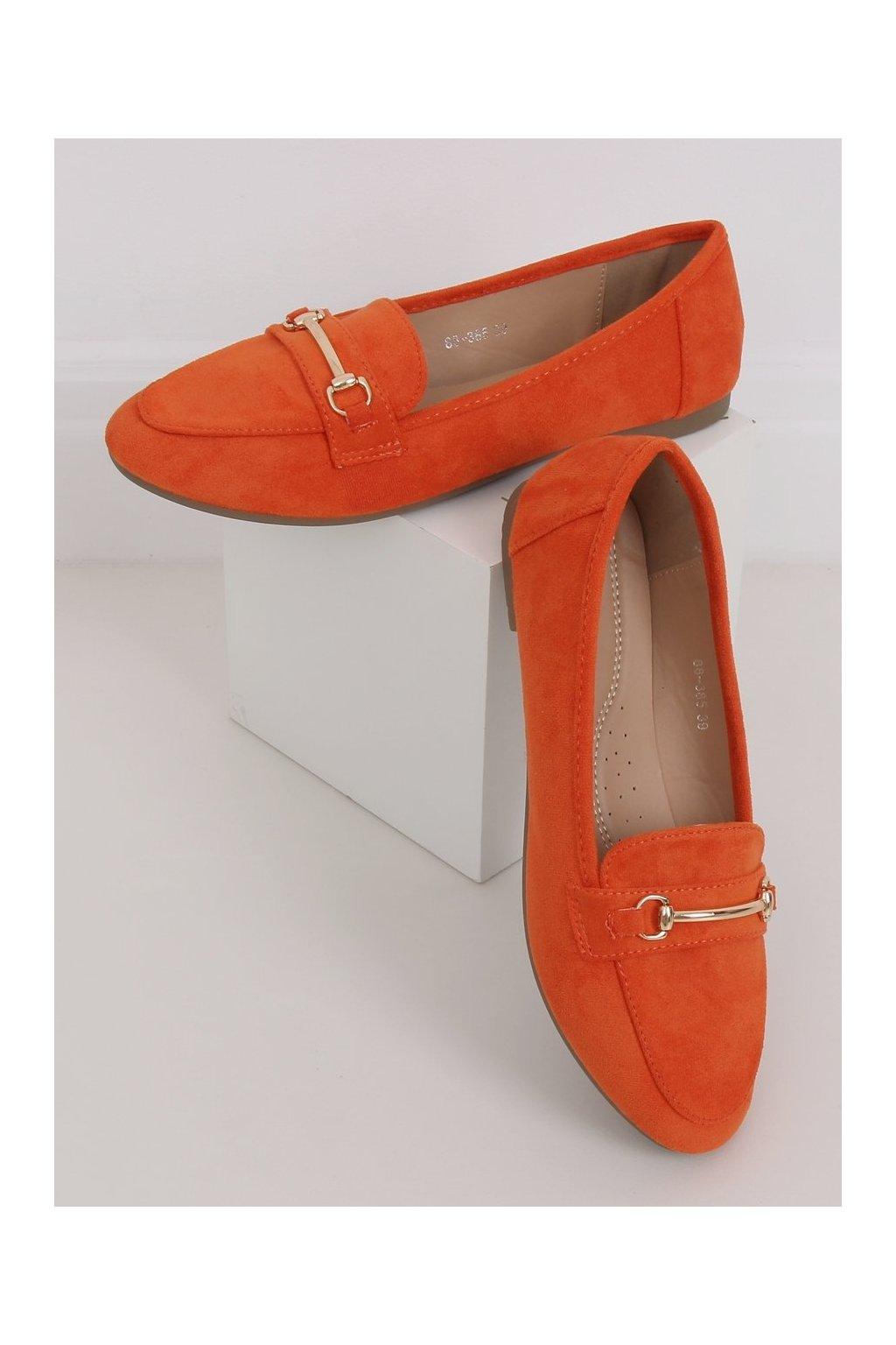 Dámske mokasíny oranžové 88-385