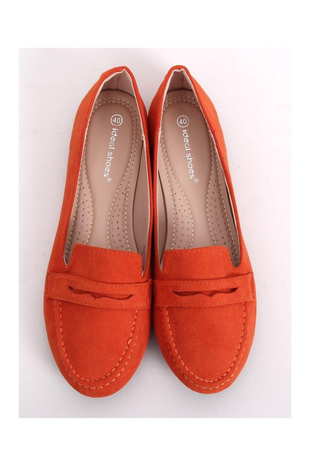 Dámske mokasíny oranžové NJSK 3900