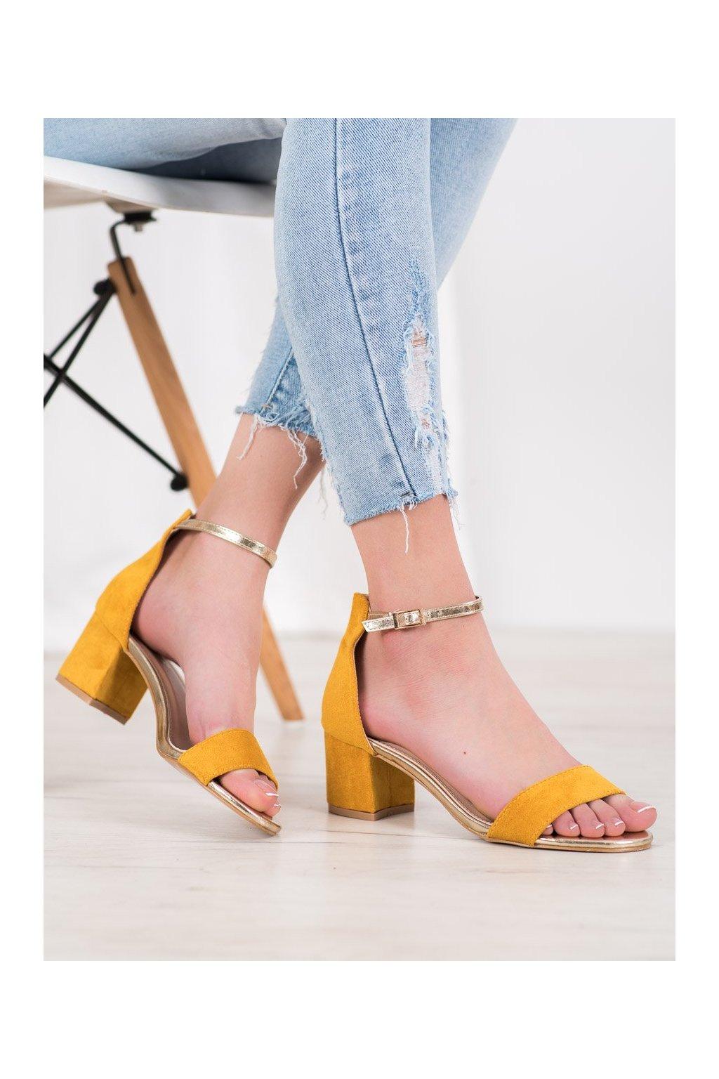 Žlté sandále Seastar NJSK M307Y