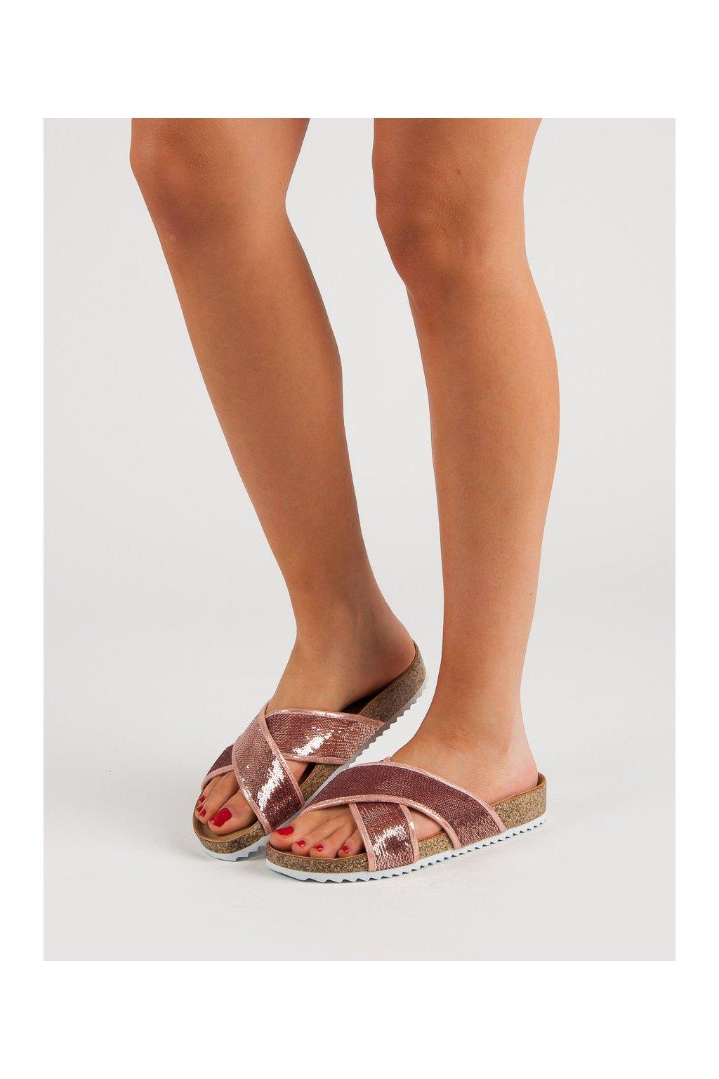 Ružové topánky Kylie NJSK K1952502ROSA