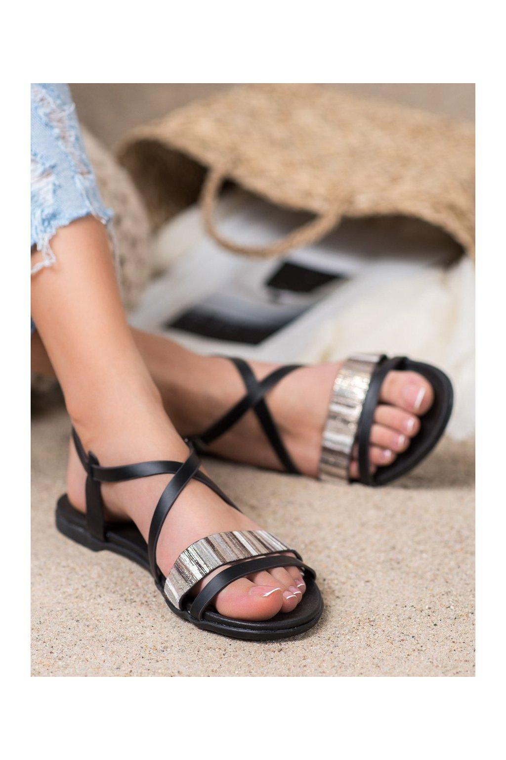 Čierne sandále Vinceza NJSK MOM20-30300B