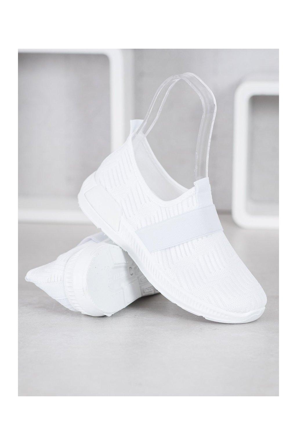 Biele tenisky Shelovet NJSK 7-K2026W