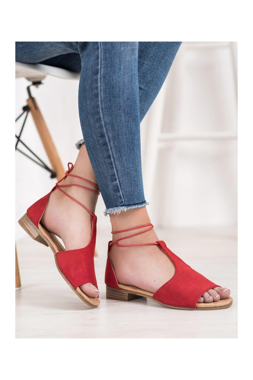 Červené sandále Vinceza NJSK YQE20-17087R