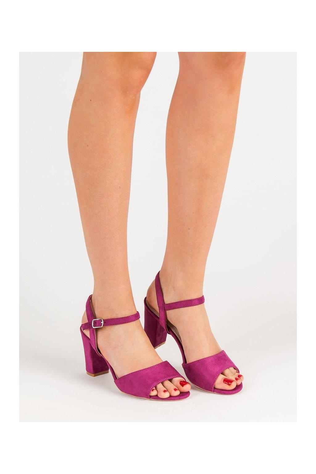 Fialové sandále Filippo NJSK DS777/19F