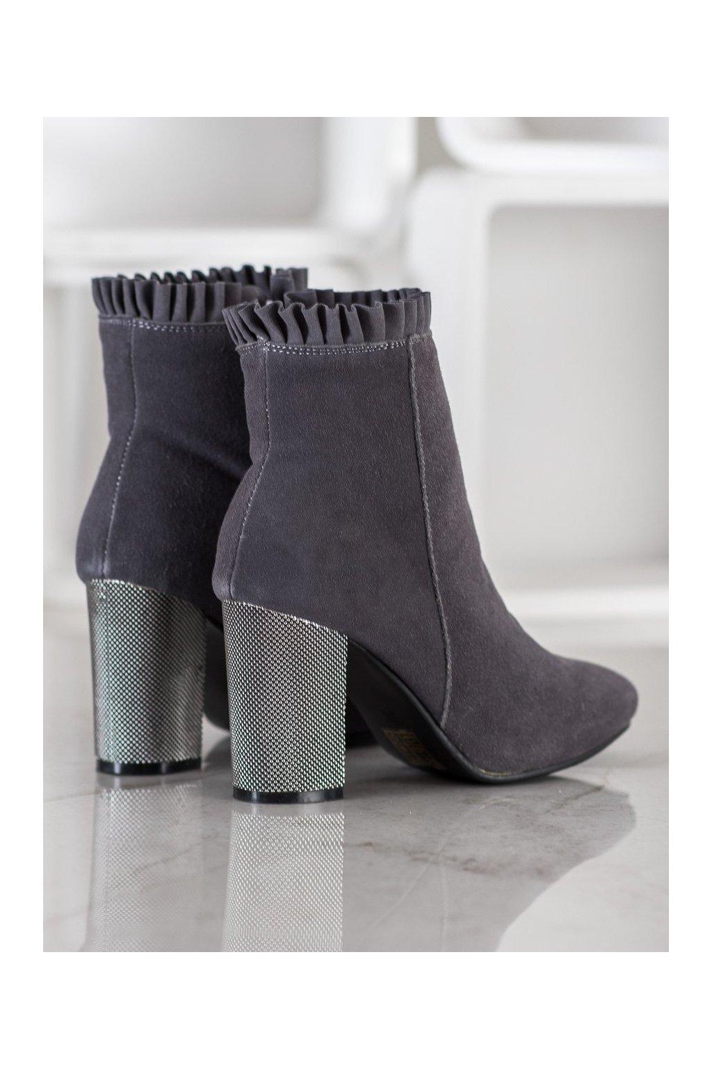 Sivé dámske topánky Goodin kod DG-BM-123G