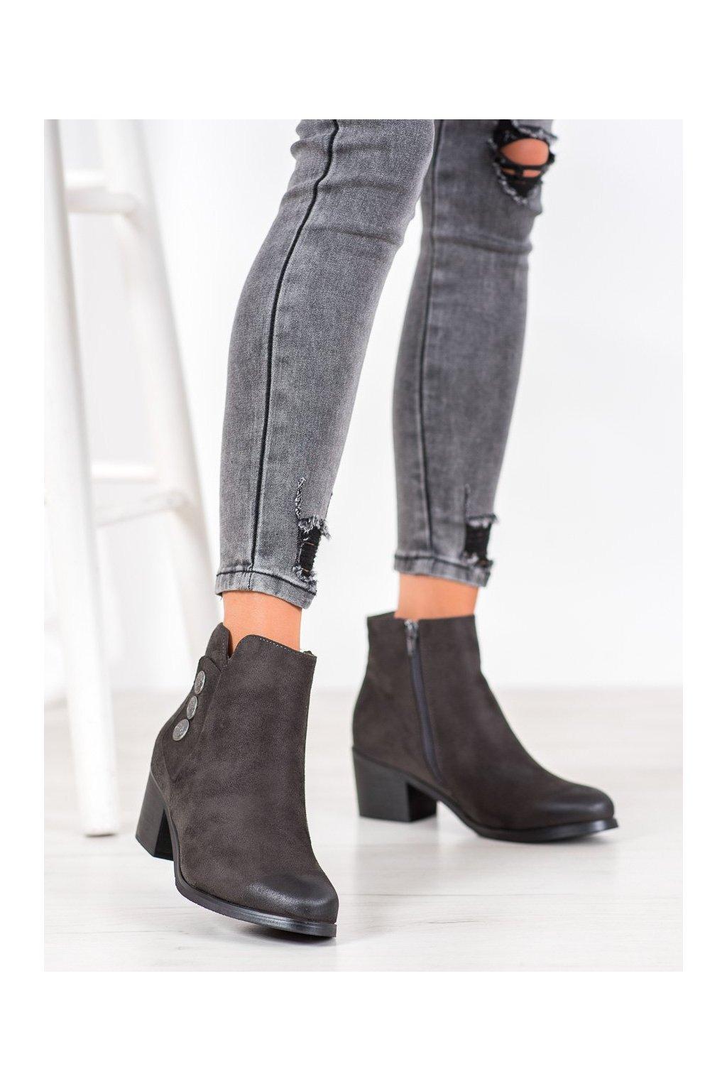 Sivé dámske topánky Goodin kod GD-DS-05A-G