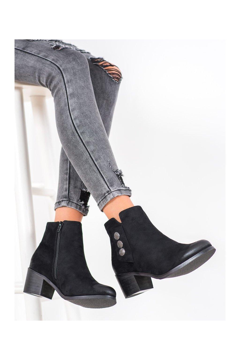 Čierne dámske topánky Goodin kod GD-DS-05A-B