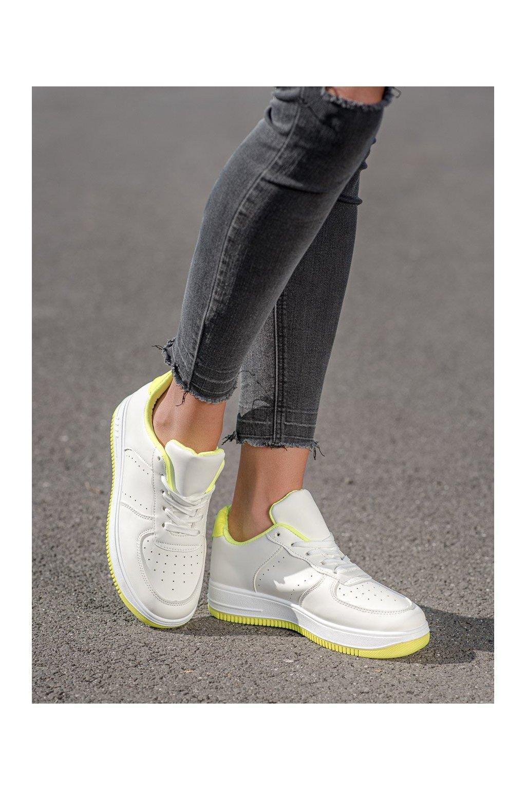 Biele tenisky Shelovet kod BL3619Y