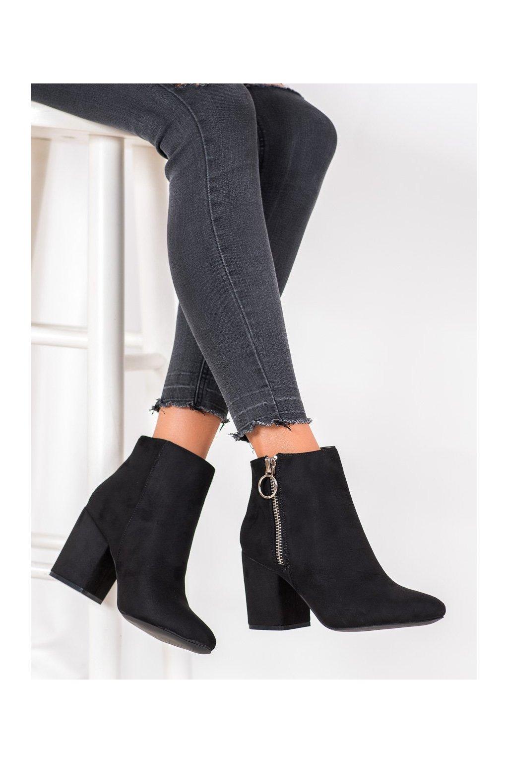 Čierne dámske topánky Goodin kod HF192B