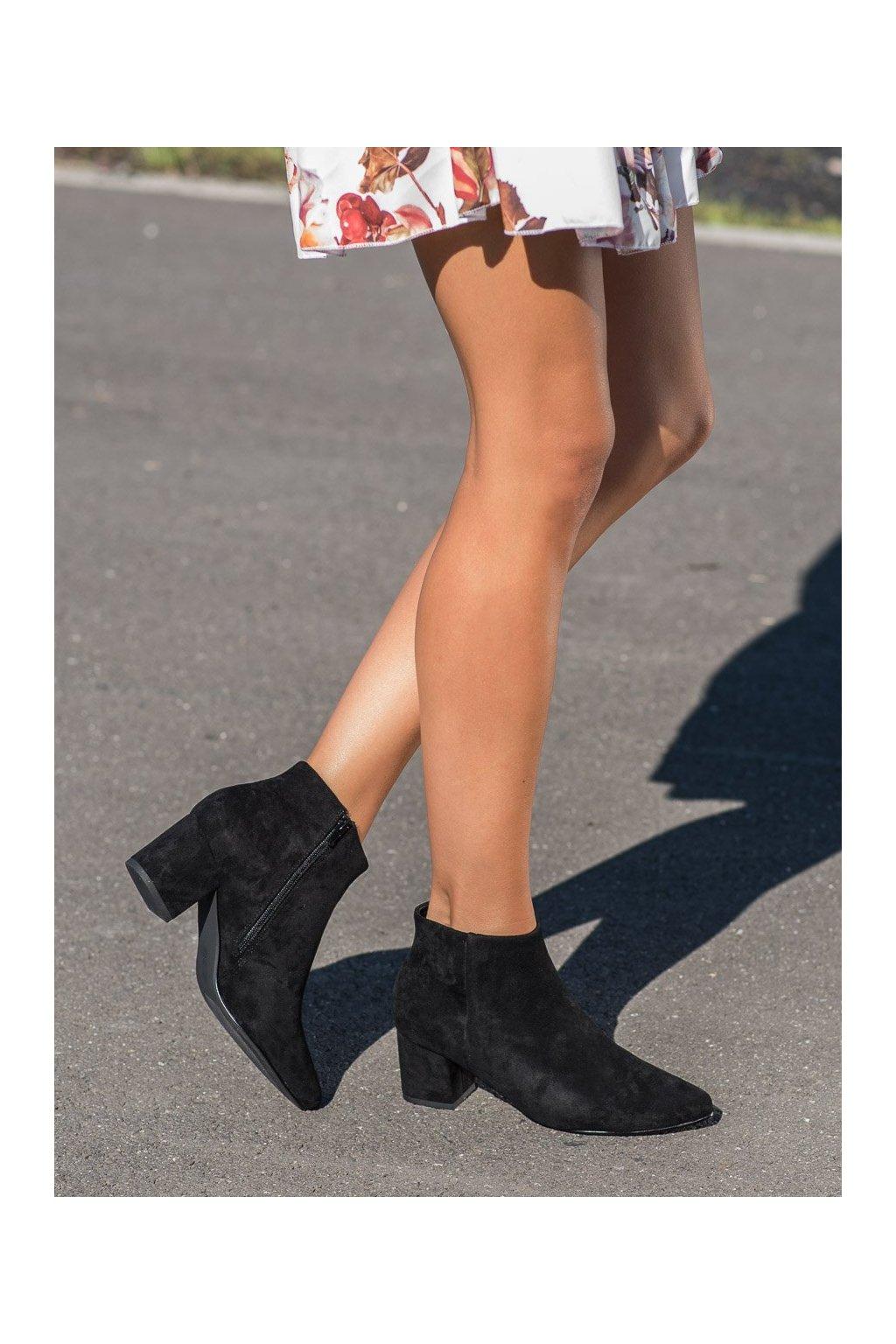 Čierne dámske topánky Vinceza kod XY21-10561B