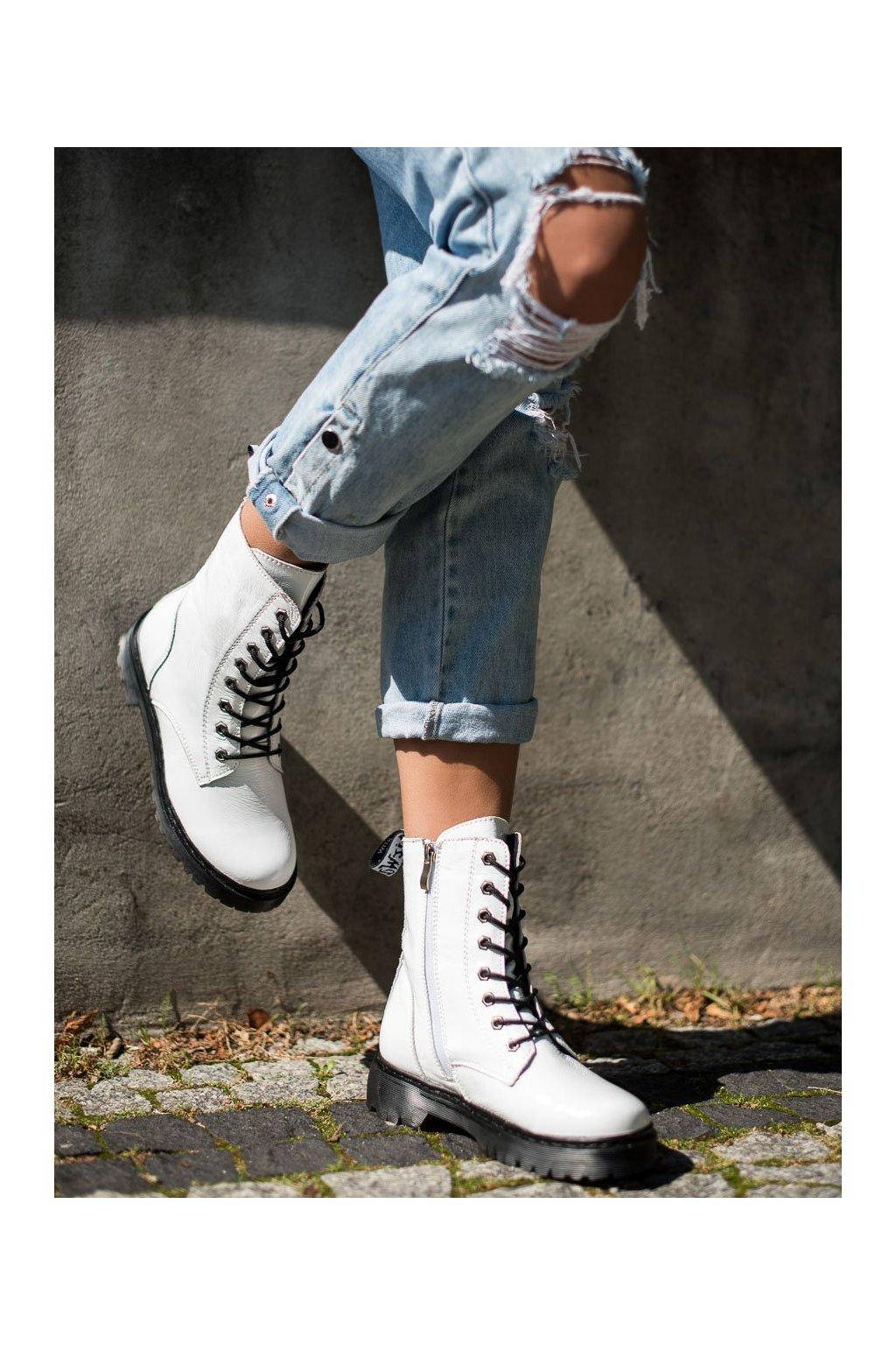 Biele dámske topánky Vinceza kod SG21-7787W