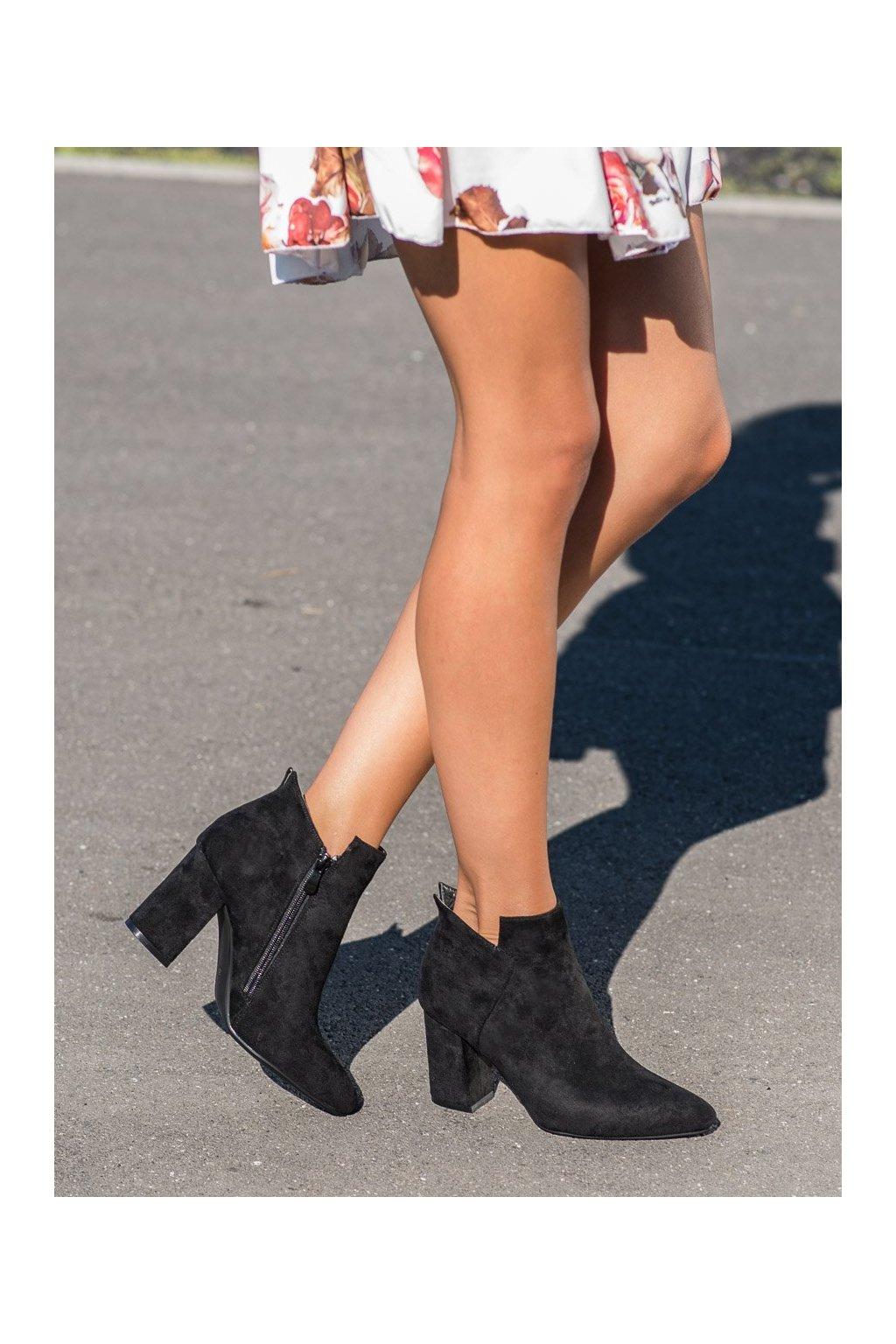 Čierne dámske topánky Vinceza kod HX21-16178B