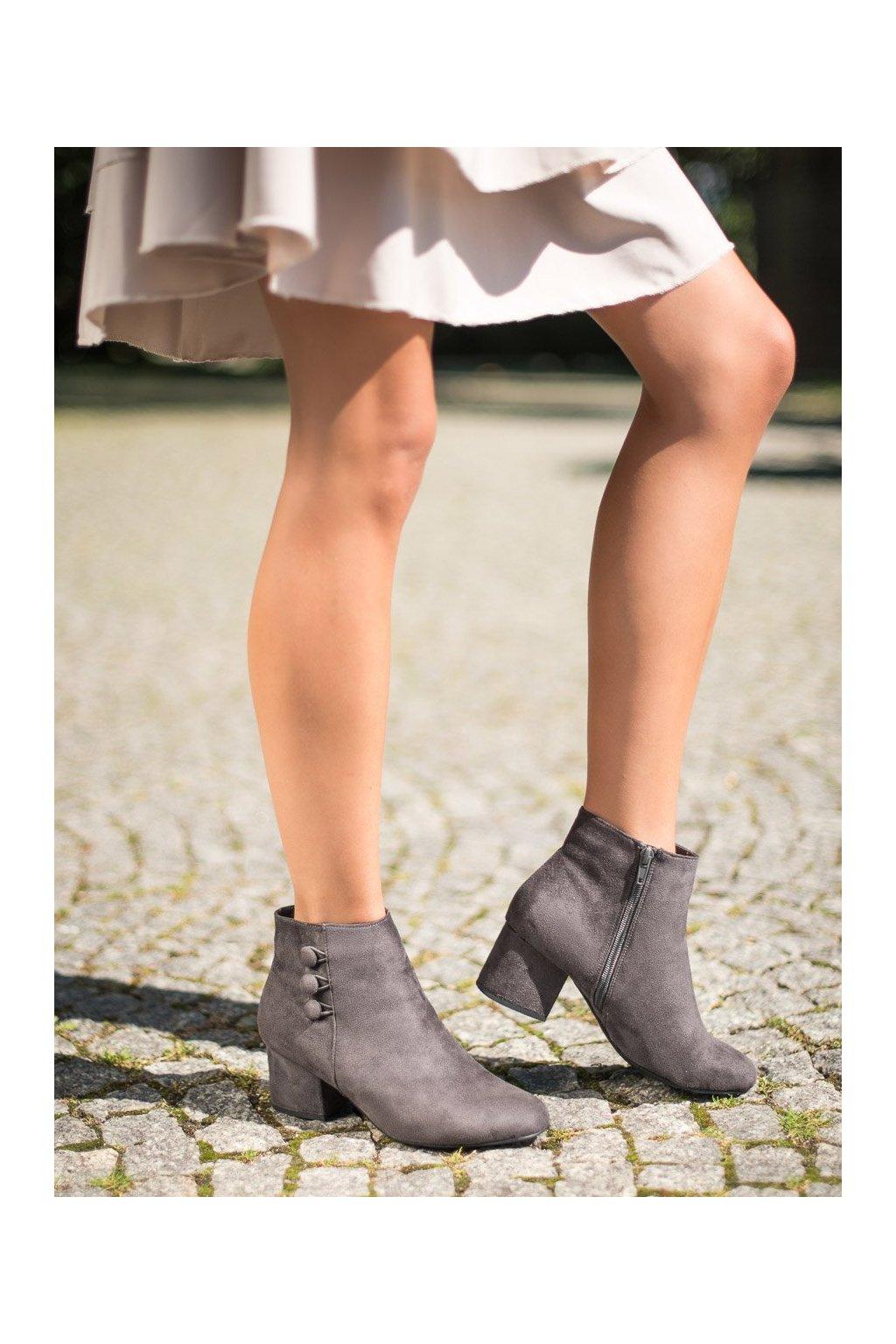 Sivé dámske topánky Goodin kod GD-BM-103G